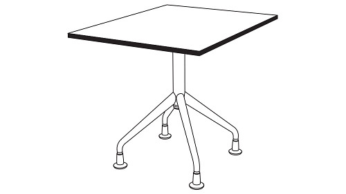 Square Top (Fixed/Folding/Pin-Height Adjustable Leg or Flip-Top)