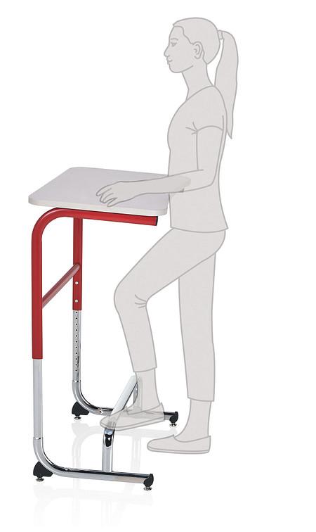 Wave desk sitstand positionB