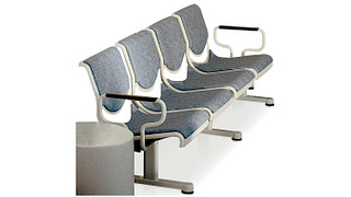 Promenade Seating   Four Place Upholstered Unit