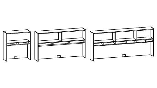Surface-Mount Open Hutch with Paper Sorter