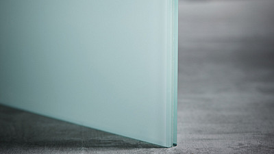 "Glass | 3/8"" White Laminate"