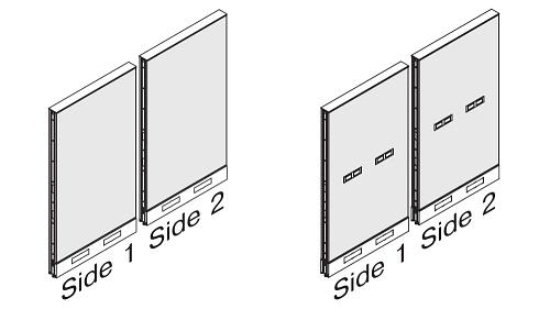 Monolithic Fabric Panel - Standard Base (optional Beltway Power)