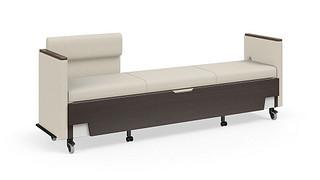 Hiatus Sleeper Bench | Left Chaise, Both Arms