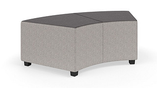 "MyPlace Lounge Furniture | 60° Inside Back Curve (Backless or 32"", 48"" or 60"" back heights)"