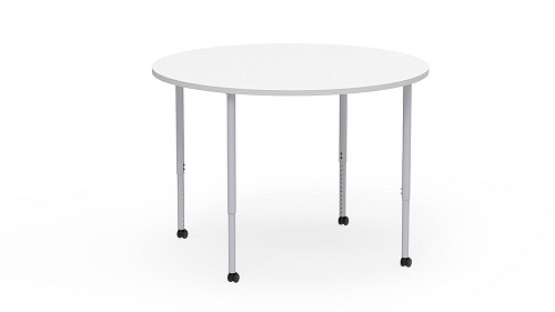Round, Sit-Stand Height Adjustable