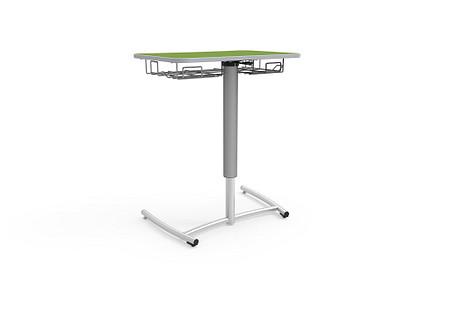Ruckus desk adj pneumatic rolling bookrack