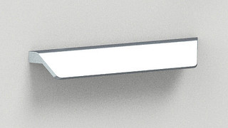 Beveled pull Satin Chrome