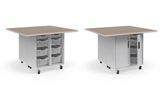 Ruckus Worktables | Double-Faced Tote Storage