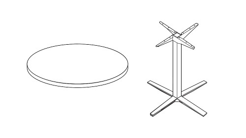 Circular Table Top & Base