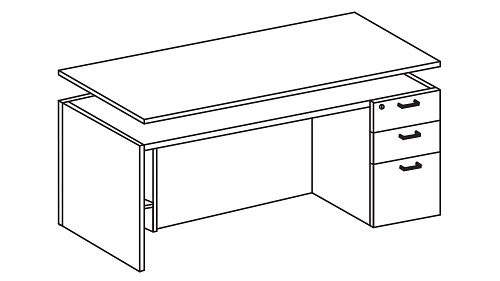Modular Height-Adjustable Desk