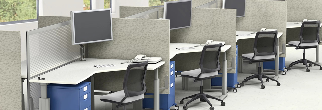 Genesis Height-Adjustable Desking System