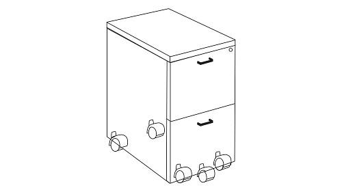 Mobile Pedestal Storage