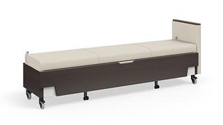 Hiatus Sleeper Bench   No Back, Right Arm