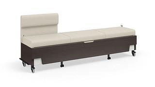 Hiatus Sleeper Bench   Left Chaise, No Arms