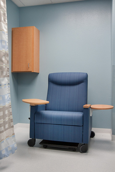 united regional soltice recliner tablet patient room healthcare