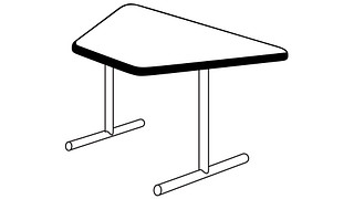 Barron Tables | Trapezoid Top (Fixed Leg or Flip Top)