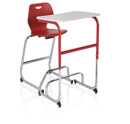 Wave desk sitstand high stool angle