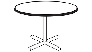 Barron Tables | Round Top (Fixed/Folding Leg or Flip Top)