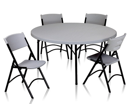 ValueLite Folding Table and Chairs nobkgrd