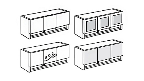 Wall-Mount Overhead Hutch with Paper Sorter