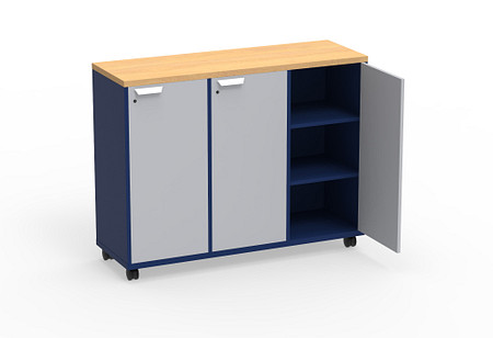 Ruckus SF cubby 5442 doors casters angle1