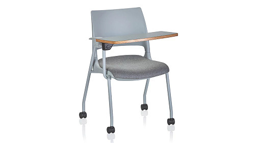 Doni Stack Chair (All Bases, Solid Shell, Two-Tone and/or Upholstered) with ChangeUp Tablet Arm