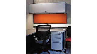 WorkZone Desking System | Overhead Cabinet with Steel Door