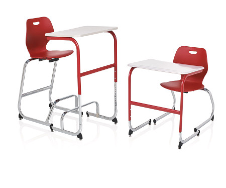 Wave desk sitstand high low stool chair