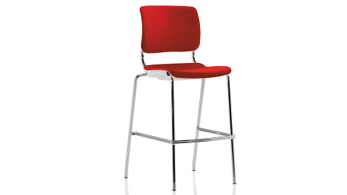 Cafe Stool with Upholstered Back