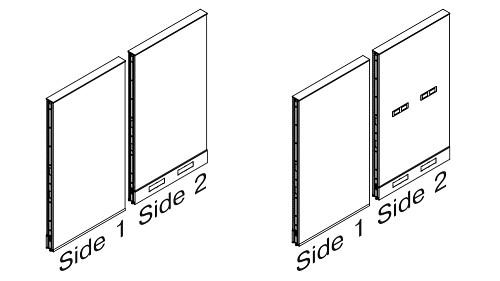 Monolithic Steel Panels - Tile to Floor Combo Base (optional Beltway Power)