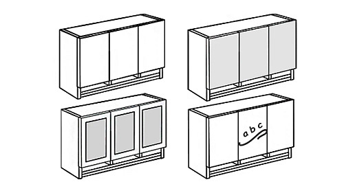 Tall Wall-Mount Overhead Hutch with Paper Sorter