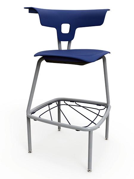 Ruckus stool 740mm glides bookrack