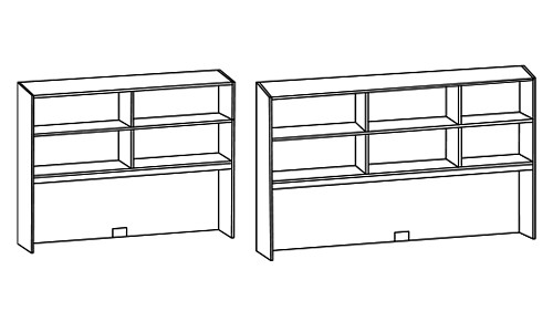 Tall Surface-Mount Open Hutch