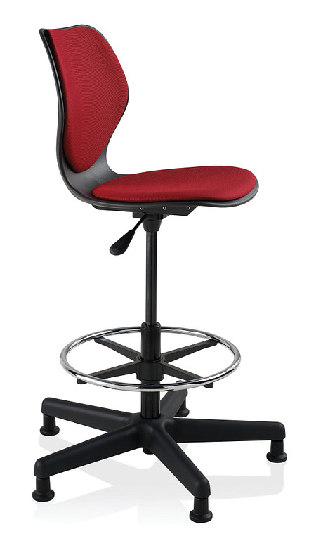 Wave task stool uph armless glides