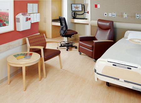 AtlantiCare Hospital Patient Room Soltice Recl Guest Impress Ultra Flex