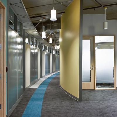 Genius wall curved hallway
