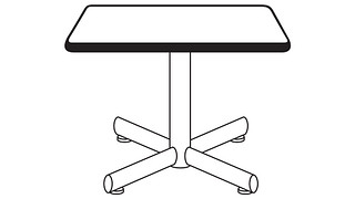 Portico Tables | Square Top (Fixed/Folding Leg or Flip-Top)