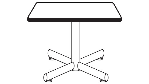 Square Top (Fixed/Folding Leg or Flip-Top)