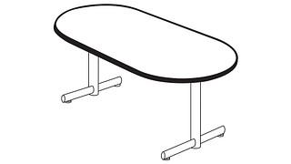 Portico Tables | Racetrack Top (Fixed/Folding Leg or Flip-Top)