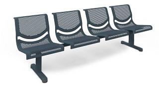 Promenade Seating | Four Place Unit