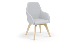 Calida Lounge Chairs | High Back Wood Leg Chair