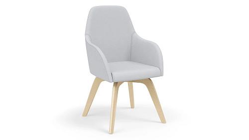 High Back Wood Leg Chair