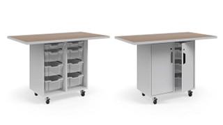 Ruckus Worktables | Single-Faced Tote Storage