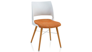 Doni Guest Chair | Tapered Wood Leg with Solid Shell (Upholstered Seat)