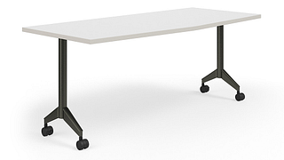 Pirouette Tables   Chevron Top (Fixed/Nesting w/optional Power)