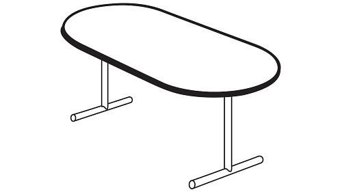 Racetrack Top (Fixed/Folding Leg or Flip Top)