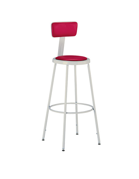 600 Series Industrial Stool Upholstered Seat and Back
