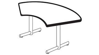 Portico Tables | Crescent Top (Fixed/Folding Leg)