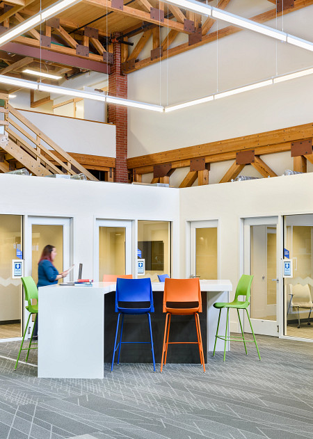 LewisandClark library1b DoniCafeStools person.tif