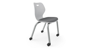Intellect Wave Chair | 4-Leg Upholstered Chair with Casters